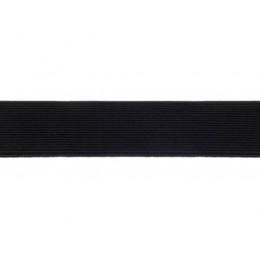 Guma, pruženka prádlová, plochá, pletená, černá 10mm, metráž