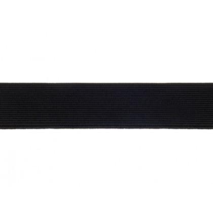 Guma, pruženka obuvnická, plochá, tkaná, černá 15mm, metráž