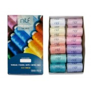 Nit polyesterová universální, mix barev č.1,  balení 12 x 1000m