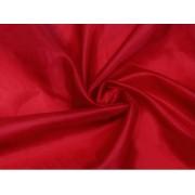 Podšívka polyesterová, červená,  metráž, látka