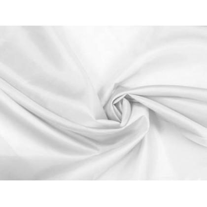 Podšívka polyesterová, bílá,  metráž, látka