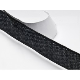 Suchý zip samolepící, 16 mm černý, háčky