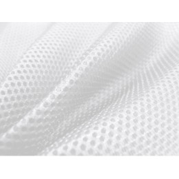 3D distanční síťovina, bílá, metráž, látky